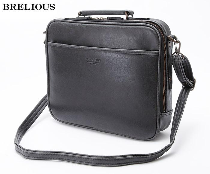 ブリーフケース ビジネスバッグ 日本製 豊岡製鞄 メンズ A4 底鋲 レトロ ヴィンテージ ビジネス 書類 通勤 旅行 出張 黒 キャメル #21222 ブレリアス BRELIOUS ポイント10倍 hira39