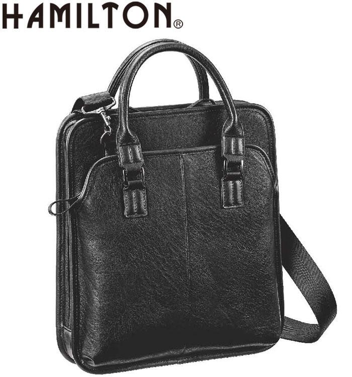ビジネスバッグ ショルダーバッグ カジュアルバッグ メンズ A4 合皮 縦型 ビジネス 通勤 街持ち 黒 #26643 ハミルトン HAMILTON ポイント10倍 hira39