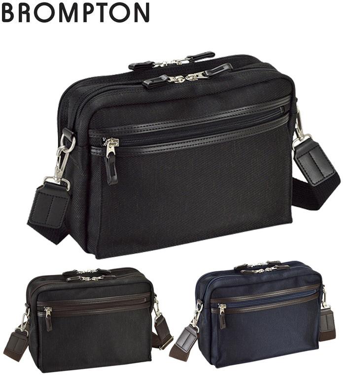 ショルダーバッグ 日本製 豊岡製鞄 メンズ 混紡 旅行 街持ち 肩掛け 黒 紺 チョコ #33714 ブロンプトン BROMPTON ポイント10倍 hira39