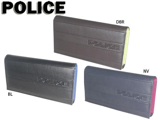 メンズ レディース 正規品 ポイント10倍 ポリス POLICE BICOLORE ビコローレ 長財布 かぶせ 0407 PA-59902 potj47