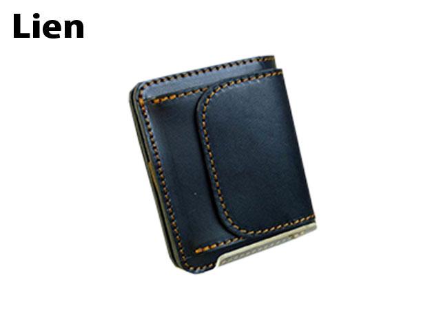 クリスマス 正規品 ポイント10倍 Lien[リアン] 栃木レザーベリーシンプル二つ折れ財布〈日本製〉 LIT6610 5044154 yone29