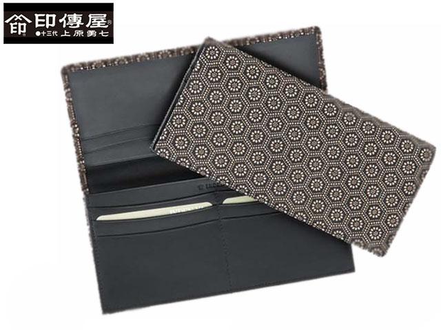 正規品 オシャレな 母の日 父の日 印伝 印傳屋 印伝 レザー コレクション 束入 長財布 和風 日本製 和柄 2104 indn23
