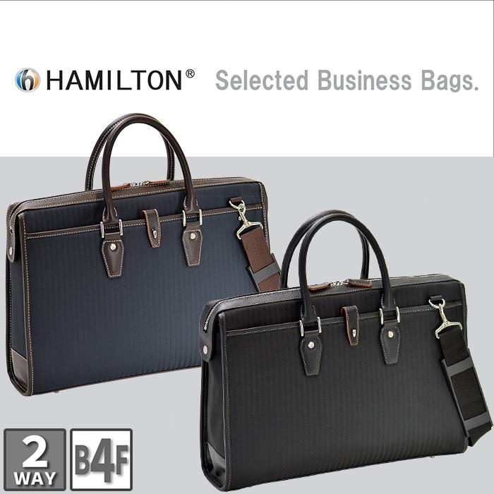 ビジネスバッグ メンズ ブリーフケース B4ファイル A4 ショルダー付き 軽量 軽い カジュアル 2WAY HAMILTON #26606 送料無料 ポイント10倍 hira39