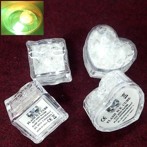 イルミネーション用 発光アイス 新発売 メール便送料無料 アイスライト LED 光る氷 アイスライトキューブ 感知型 LEDセンサーライト ストア 溶けない氷 マルチカラー 2種類展開 12個セット