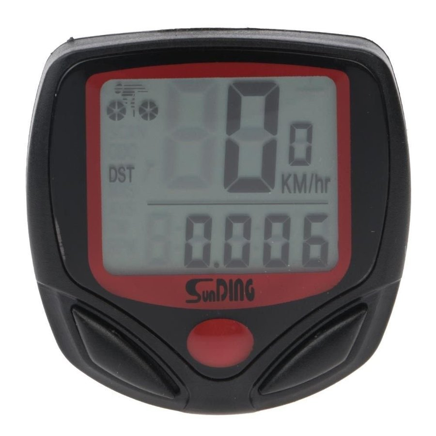自転車用多機能スピードメーター メール便送料無料 サイクルコンピューター 自転車スピードメーター SD548B 防水 LCD 永遠の定番モデル 14機能搭載 有名な
