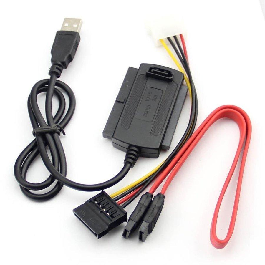 ★USBから各種ドライブを接続! 【メール便送料無料】変換アダプター 変換ケーブル コンバーター ケーブル ハード ディスク ドライブ HD HDD 3-in-1 USB2.0-IDE SATA 2.5 3.5
