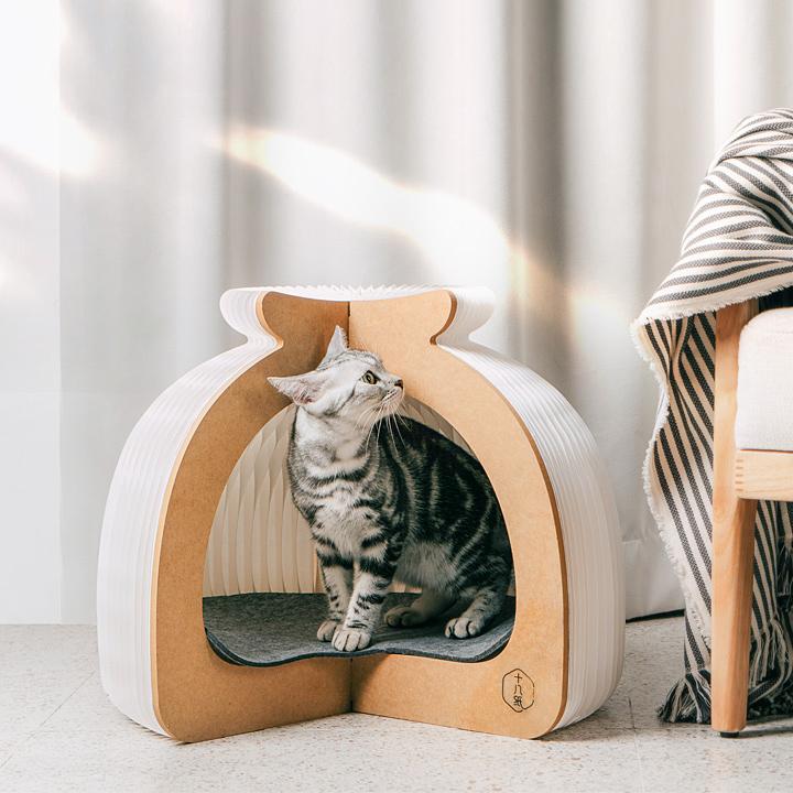 猫 猫用 グッズ キャットハウス ゲージ 家 ねこ キャット ペット ハウス お家 かわいい おしゃれ 綺麗〔B〕