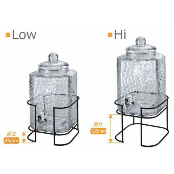 ウォーターサーバー サーバー ガラス サーバー 透明 UW-2010 ガラスドリンクサーバー 6L スタンド付【CAG】