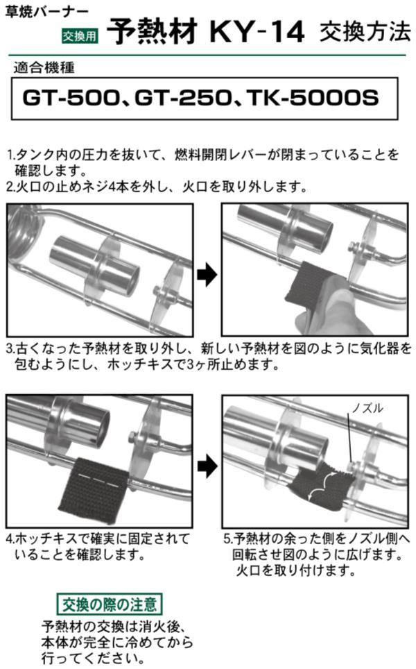 草焼バーナー交換用予熱材(2枚入) ( KY-14 / DF10274342 )