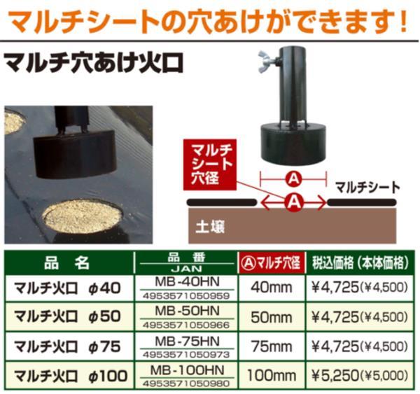 マルチ穴あけ火口 径50mm ( MB-50HN / DF10274346 )