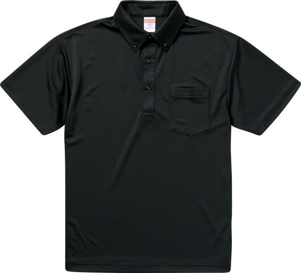 592101X-2 4.1オンス ドライアスレチックポロシャツ ブラック (UNA10419176)