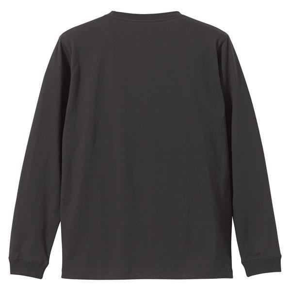 501101CX-165 5.6オンス ロングスリーブTシャツ(1.6インチリブ) SUMI XXL (UNA10419358)