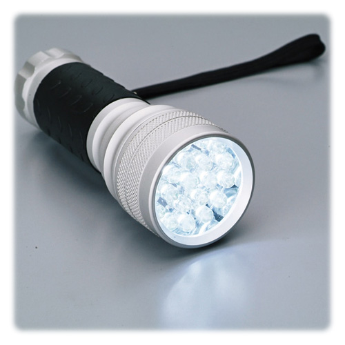 LED 21トーチ ラバーグリップ シルバー ( SV-2362 / AT10245523 )