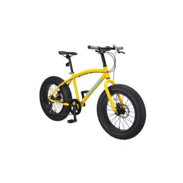 ファットバイク207(マットイエロー)【 YG-232 】 ( YG-0232 / CAG10252847 )【 キャプテンスタッグ 自転車 ファットバイク 】