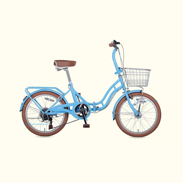 ホワイトニングバレイFDB206BAA(ブルー) ( YG-0241 / CAG10252854 )【 YG-241 】【 キャプテンスタッグ 自転車 】【QBI35】