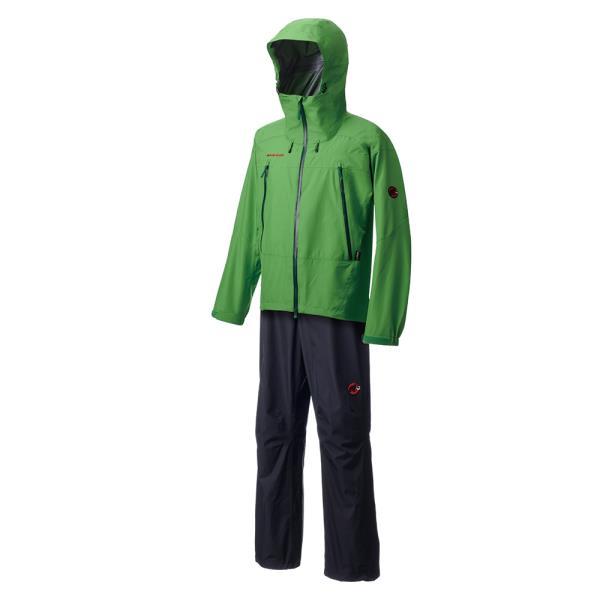 Gore-Tex Thunderstorm Rain-Suit sherwood-black L ( 1010-12721-4402-L / MAT10271182 )【 マムート 】【QCA25】