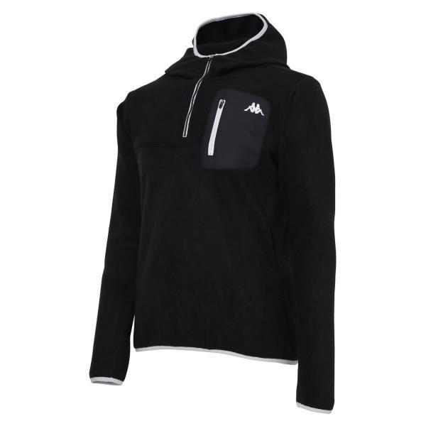 フリースジャケット ブラック/Lサイズ ( KM552KT35-BK-L / JSK10294060 )【 kappa 】【QBI25】