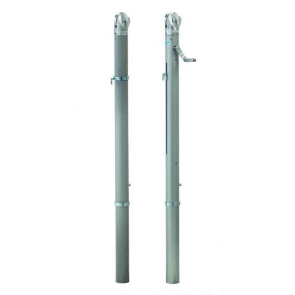テニス支柱アルミ製内蔵式 NN型 埋筒無 S-0228 (SWT10321897)【送料区分:C】