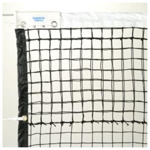 硬式用テニスネット (全天候型) 黒 スチールワイヤー S-2332 (SWT10322302)【送料区分:見積り】【QCA25】