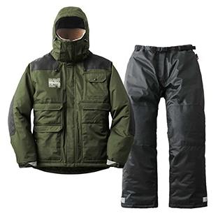 防水スーツ 防寒スーツ 上下セット ロゴス タフワーク フォルテ カーキ LL ( HN10340950 / 30369571 )