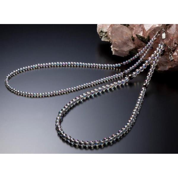 AQ814053 チタン水晶ネックレス(+5cmアジャスター) 50cm (PTN10367689) 【 ファイテン 】【QBI35】