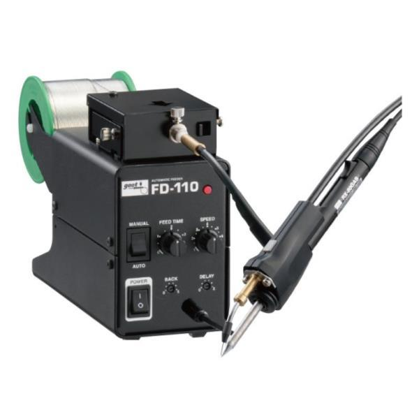 FD-110-1.6 V溝加工機能付はんだ送り装置 直径1.6はんだ用 (ATG10383414) 【 goot 】