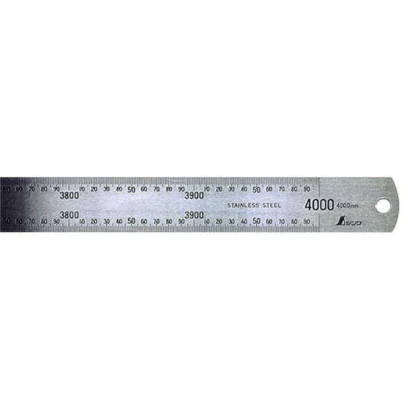#14087 直尺 ステン 4m (SSO10388380) 【 シンワ測定 】