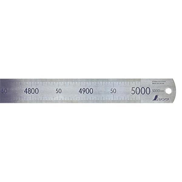 #14095 直尺 ステン 5m (SSO10388381) 【 シンワ測定 】【QBI35】