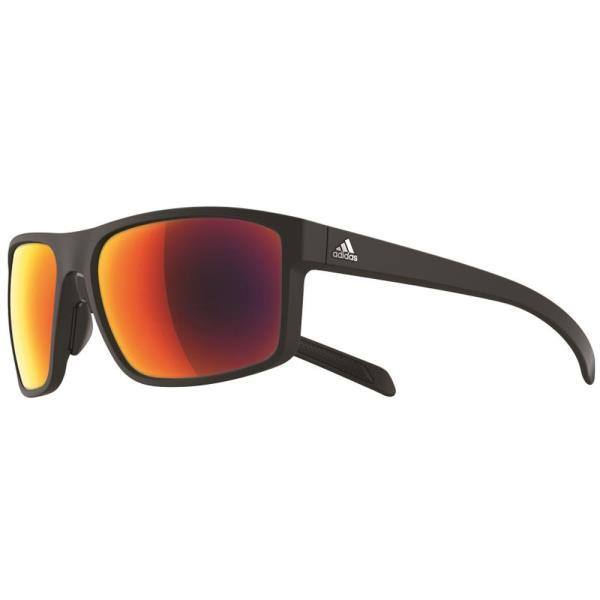 A423006052 ゴルフ サングラス WHIPSTART マットブラック×グレイ・レッドミラー (ADS10395613) 【 アディダス 】【QBI25】
