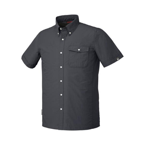 1030-02650-0001 BOULDER Shirts Short black (MAT10417232) 【 MAMMUT 】【QBI35】