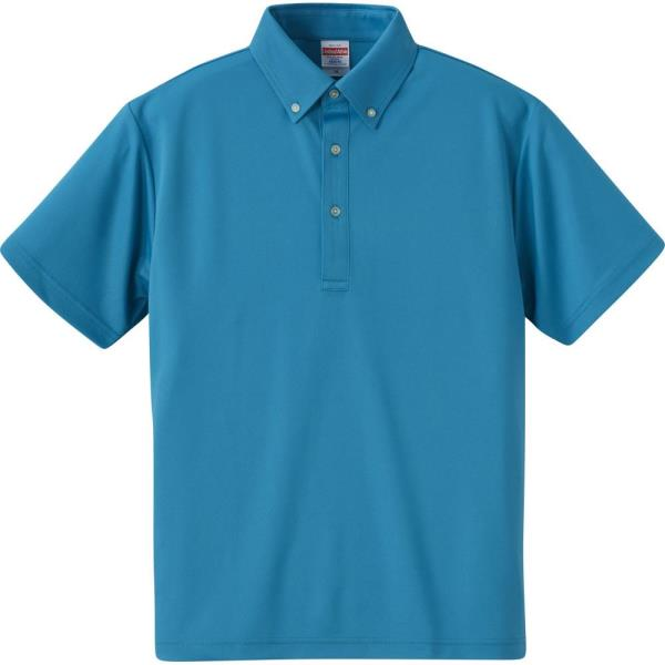 592001-538 4.1オンス ドライアスレチックポロシャツ ターコイズブルー (UNA10419070)