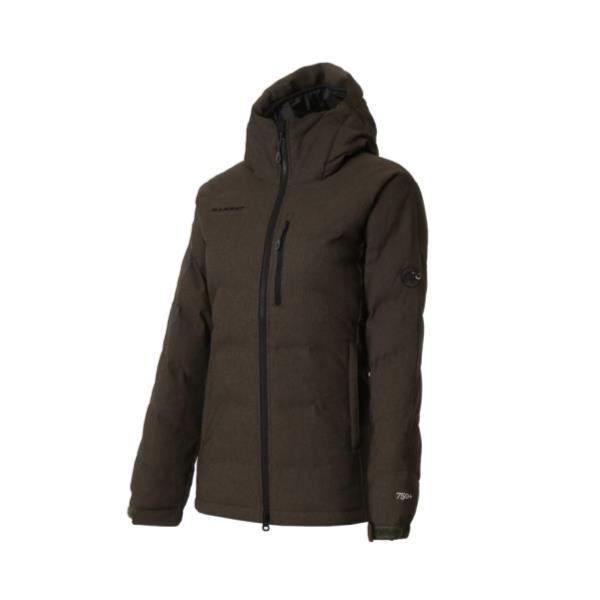 【送料無料】 1013-23091-4995 SERAC Hoody Melange Down Jacket Women khaki melange (MAT10507585) 【 マムート 】【QBI25】