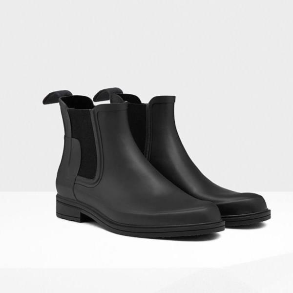 長靴 ブーツ レインブーツ レインシューズ ショートブーツ 防水 雨具 ハンター メンズ MFS9060RMA-BLK M ORG REFINED CHELSEA BLACK ( HUN10529002 ) 【 ハンター 】【QCA04】