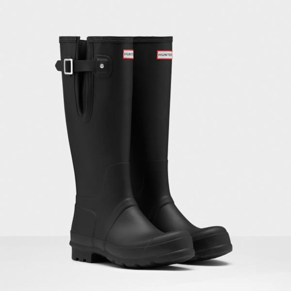 長靴 ブーツ レインブーツ レインシューズ ロングブーツ 防水 雨具 ハンター メンズ MFT9007RMA-BLK M ORG SIDE ADJUSTABLE BLACK ( HUN10529042 ) 【 ハンター 】【QCA04】
