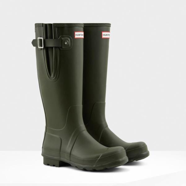 長靴 ブーツ レインブーツ レインシューズ ロングブーツ 防水 雨具 ハンター メンズ MFT9007RMA-DOV M ORG SIDE ADJUSTABLE DARK OLIVE ( HUN10529046 ) 【 ハンター 】【QCA04】
