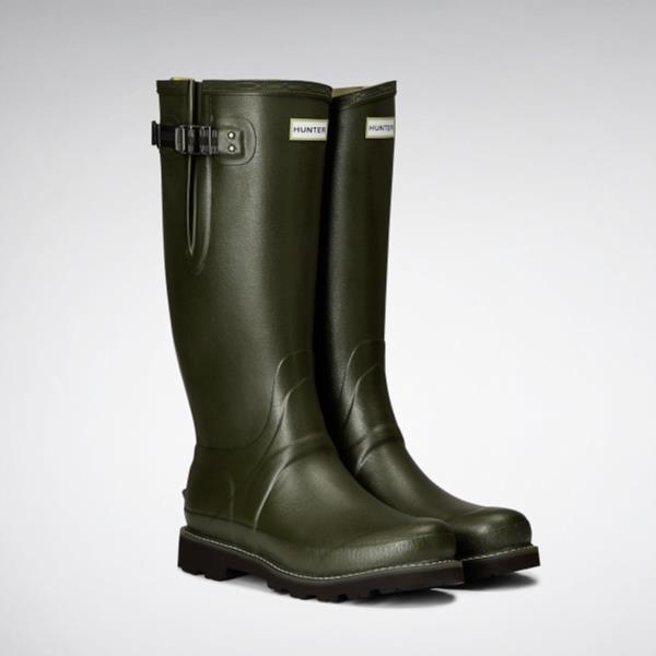 長靴 ブーツ レインブーツ レインシューズ 防水 雨具 ハンター メンズ MFT9100RPO-DOV M BALM SOV POLY LINED SIDE ADJ DARK OLIVE ( HUN10529067 ) 【 ハンター 】【QCA04】