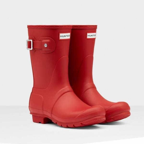 長靴 ブーツ レインブーツ レインシューズ ショートブーツ 防水 雨具 ハンター レディース WFS1000RMA-MLR WOMEN ORIGINAL SHORT MILITARY RED ( HUN10529377 ) 【 ハンター 】【QCA04】