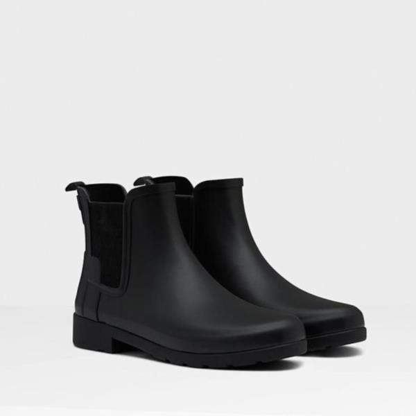 長靴 ブーツ レインブーツ レインシューズ ショートブーツ 防水 雨具 ハンター レディース WFS1017RMA-BLK W ORG REFINED CHELSEA BLACK ( HUN10529418 ) 【 ハンター 】【QCA04】