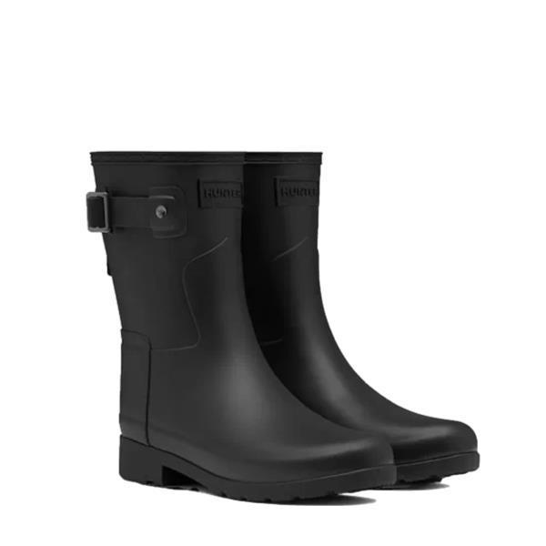 長靴 ブーツ レインブーツ レインシューズ ショートブーツ 防水 雨具 ハンター レディース WFS1098RMA-BLK ORIGINAL REFINED SHORT BLACK ( HUN10529469 ) 【 ハンター 】【QCA04】