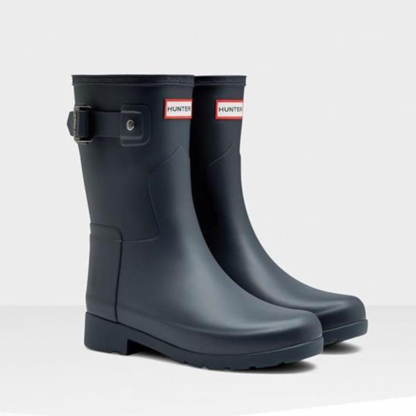 長靴 ブーツ レインブーツ レインシューズ ショートブーツ 防水 雨具 ハンター レディース WFS1098RMA-NVY ORIGINAL REFINED SHORT NAVY ( HUN10529472 ) 【 ハンター 】【QCA04】