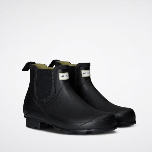 長靴 ブーツ レインブーツ レインシューズ ショートブーツ 防水 雨具 ハンター レディース WFS2003RMA-BLK WOMENS NORRIS CHELSEA BLACK ( HUN10529495 ) 【 ハンター 】【QCA04】