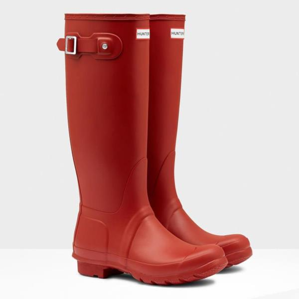 長靴 ブーツ レインブーツ レインシューズ ロングブーツ 防水 雨具 ハンター レディース WFT1000RMA-MLR WOMENS ORG TALL MILITARY RED ( HUN10529513 ) 【 ハンター 】【QBJ38】