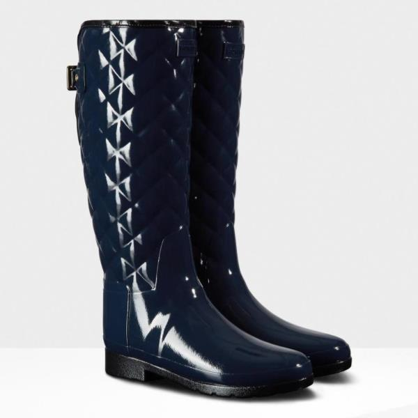 WFT1031RGL-NVY REFINED GLOSS QUILT TALL NAVY (HUN10529580) 【 ハンター 】