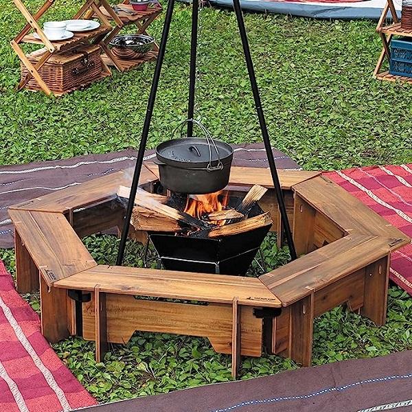 テーブル 机 グリル テーブル バーベキュー BBQ キャンプ キャプテンスタッグ クラシックス ヘキサ セット 137 ( CAG10544453 / UP-1038 )