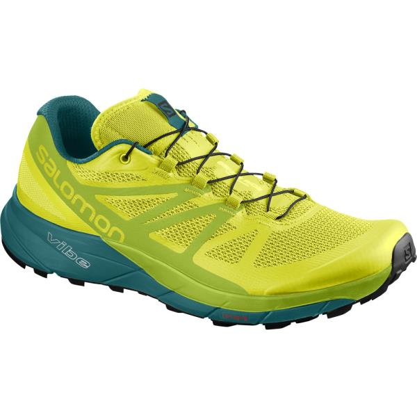 L40250100 SENSE RIDE SULPHUR SPRING/LIME GREEN/DEEP LAKE (SAM10545400) 【 サロモン 】