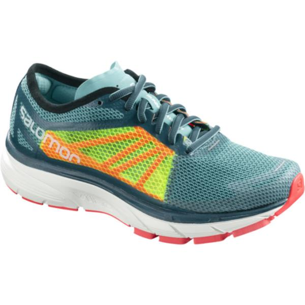 L40143800 SONIC RA W BLUE CURACAO/SAFETY YELLOW/FIERY CORAL (SAM10546066) 【 サロモン 】