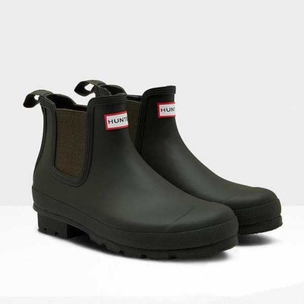 長靴 ブーツ レインブーツ レインシューズ ショートブーツ 防水 雨具 ハンター メンズ MFS9075RMA-DOV MENS ORIGINAL CHELSEA DARK OLIVE ( HUN10555174 ) 【 ハンター 】【QCA04】
