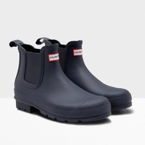 長靴 ブーツ レインブーツ レインシューズ ショートブーツ 防水 雨具 ハンター メンズ MFS9075RMA-NVY MENS ORIGINAL CHELSEA NAVY ( HUN10555182 ) 【 ハンター 】【QCA04】