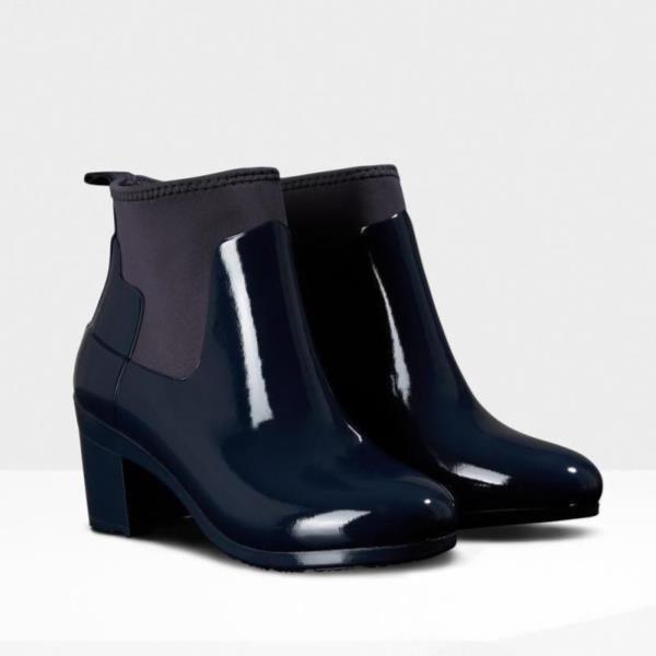 【超特価SALE開催!】 WFP1012NRG-NVY REFINED MID HEEL GLOSS NAVY (HUN10555273) 【 ハンター 】, 4U clothing カジュアル&ブランド 563a51f8