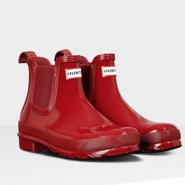 長靴 ブーツ レインブーツ レインシューズ ショートブーツ 防水 雨具 ハンター レディース WFS1043RGL-MLR W ORG CHELSEA RGL MILITARY RED ( HUN10555318 ) 【 ハンター 】【QCA04】